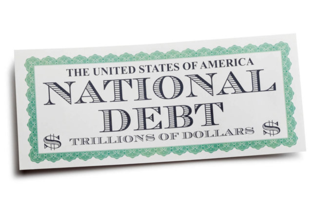 National debt graphic