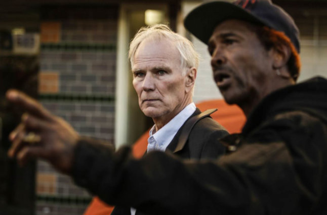 Philip Alston gets a tour of skid row in downtown Los Angeles.