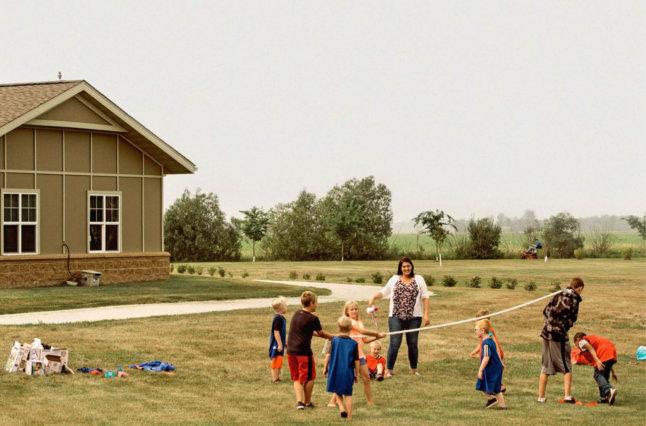 Kids playing outside.