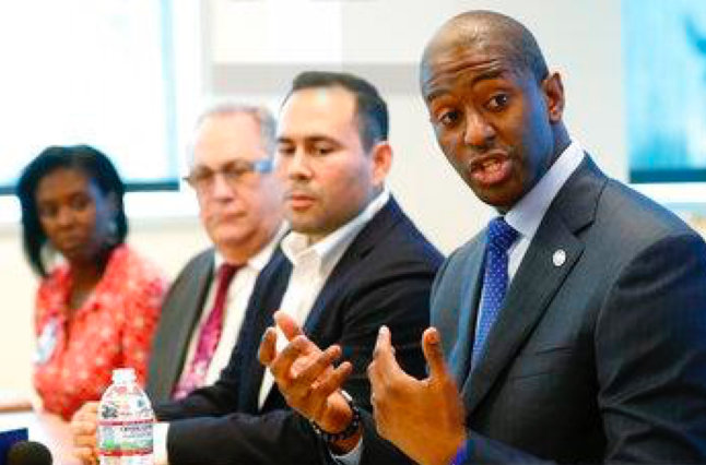 Florida Gubernatorial Candidate Andrew Gillum Speaks With Health Care Professionals On Sept. 21, 2018 In Miami. Wilfredo Lee AP Photo
