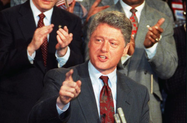 Bill Clinton giving speech