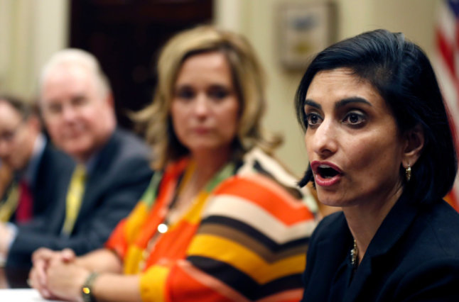 Seema Verma, Right, The Administrator Of The Centers For Medicare And Medicaid Services Credit Alex Brandon Associated Press