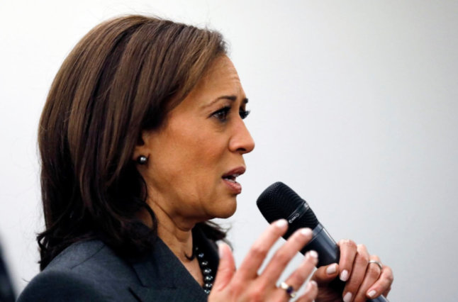 Sen Kamala D Harris (D Calif) Speaks To Students At Drake University In Des Moines (Charlie Neibergall AP)