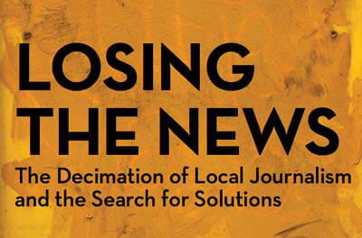 Graphic headline: Losing the News