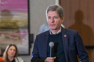 Rep. Tom Malinowski at a Citizen Panel event on 2/29/20 in Berkeley Heights, NJ