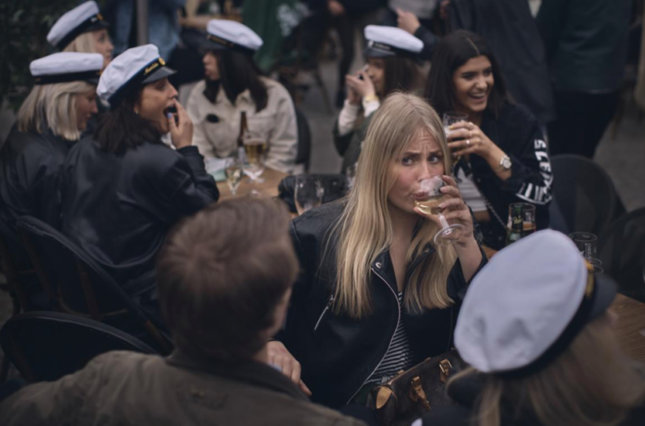 Students celebrate their graduation in Stockholm, April 202