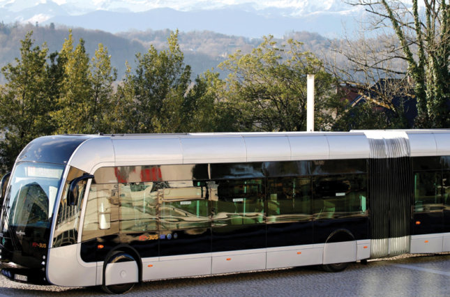 The new Febus hydrogen bus is seen before a presentation in Pau, France, January 14, 2020