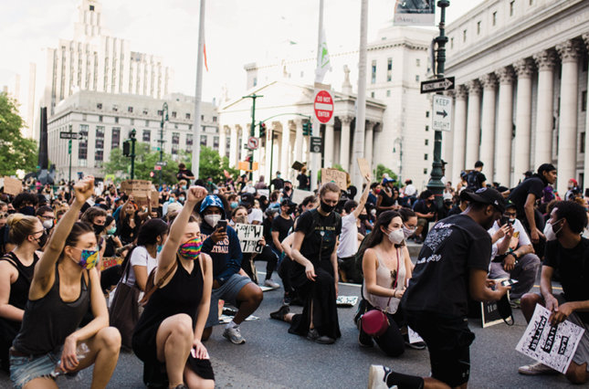 Black Lives Matters protesters in New York City