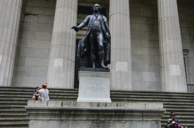 Statue of George Washington at Federal Hall in New York City