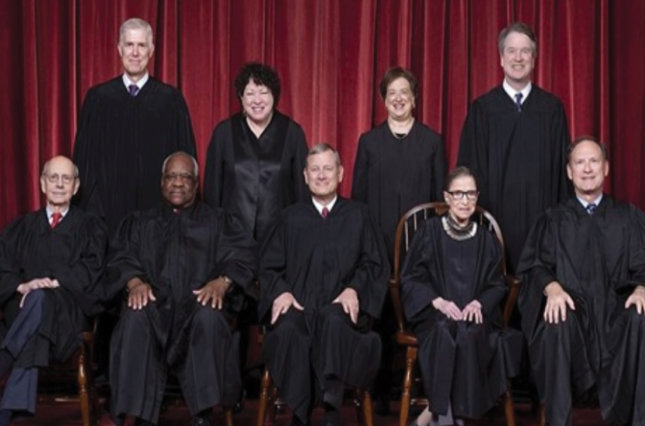 Group photo of the Supreme Court justices