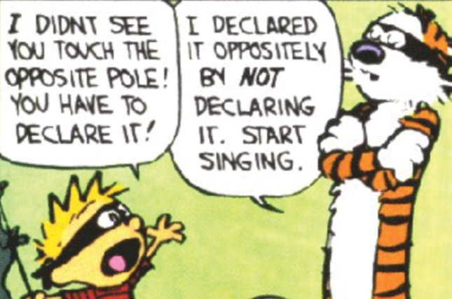 Single frame from a Calvin and Hobbes comic