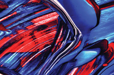 Abstract image of red blue and white