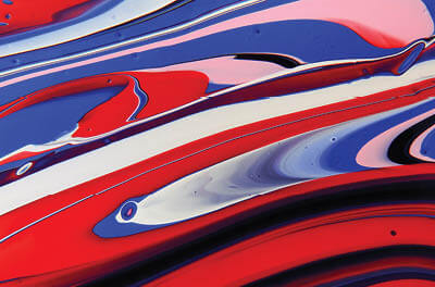Red white and blue abstract image. Photo credit Anni Roenkae