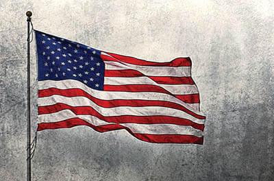 Illustration of U.S. flag. Image credit D. Williams