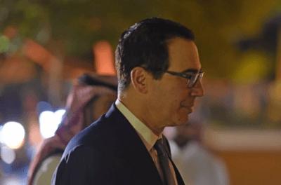 Former Treasury Secretary Steven Mnuchin in Riyadh