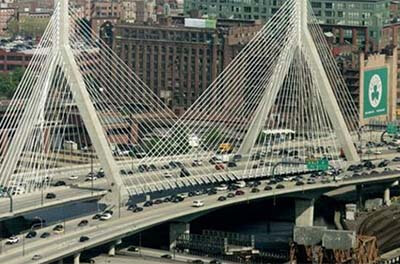 The Leonard P. Zakim Bunker Hill Bridge was part of Boston's Big Dig, which was infamous for its cost overruns.